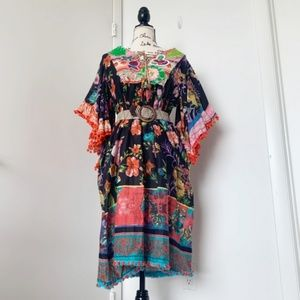 NWT Antica Sartoria Boho Beach Dress/Tunic/Coverup